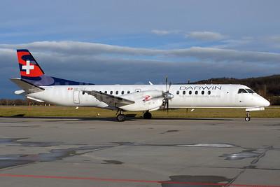 Darwin Airline SAAB 2000 HB-IZZ (msn 048) ZRH (Rolf Wallner). Image: 905730.