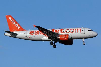 easyJet (easyJet.com) (Switzerland) Airbus A319-111 HB-JYB (msn 4837) BSL (Paul Bannwarth). Image: 924159.