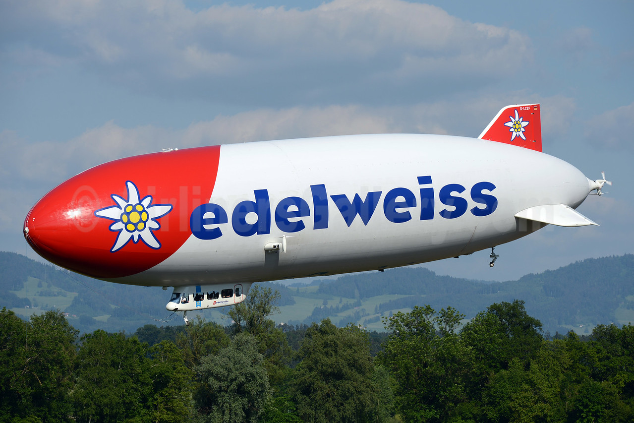 Celebrating 20 years with Zeppelin sightseeing rides over Switzerland