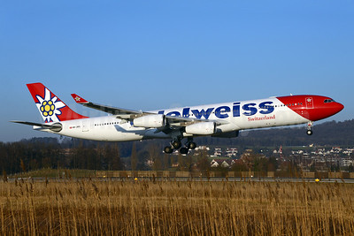 Edelweiss Air Airbus A340-313 HB-JMG (msn 562) ZRH (Rolf Wallner). Image: 936307.
