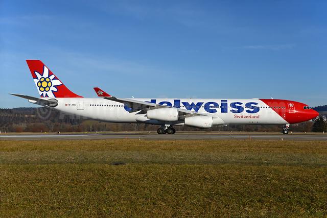 Edelweiss Air Airbus A340-313 HB-JMG (msn 562) ZRH (Rolf Wallner). Image: 935965.