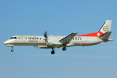 Etihad Regional-Darwin Airline SAAB 2000 HB-IYI (msn 016) ZRH (Andi Hiltl). Image: 933296.