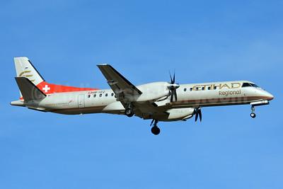 Etihad Regional-Darwin Airline SAAB 2000 HB-IZZ (msn 048) ZRH (Paul Bannwarth). Image: 927086.