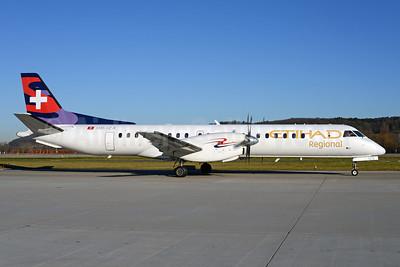 Etihad Regional-Darwin Airline SAAB 2000 HB-IZX (msn 041) (Darwin colors) ZRH (Rolf Wallner). Image: 925799.