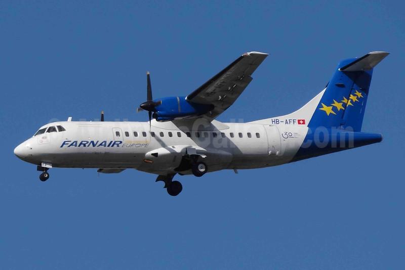Farnair Europe (Switzerland) ATR 42-320 HB-AFF (msn 264) (30 Years) BSL (Paul Bannwarth). Image: 924176.