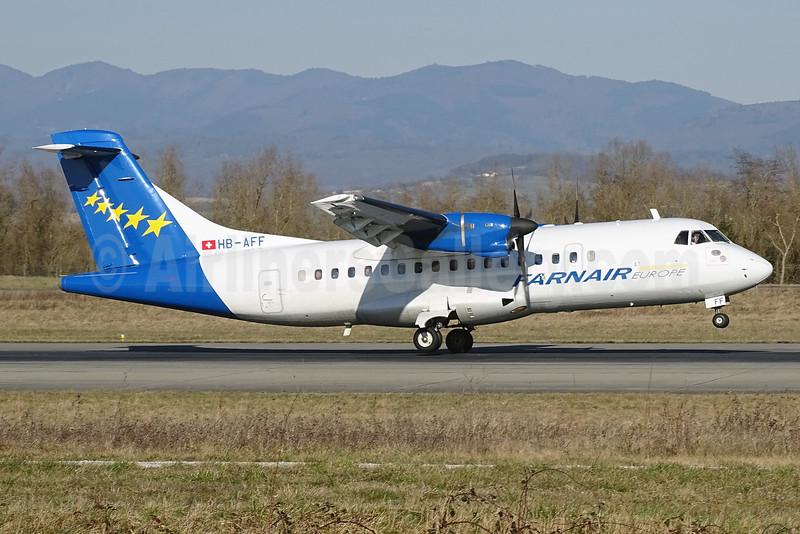 Farnair Europe (Switzerland) ATR 42-320 HB-AFF (msn 264) BSL (Paul Bannwarth). Image: 923527.