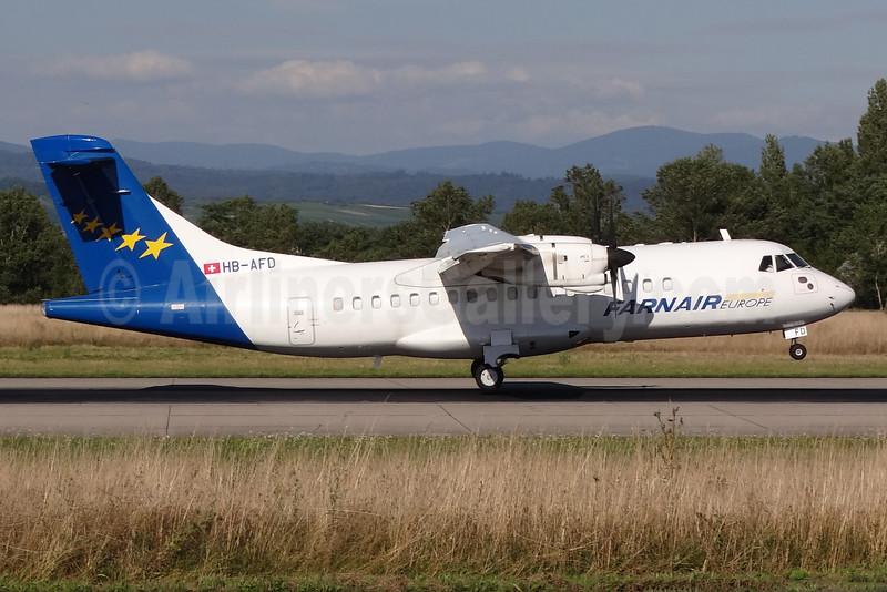Farnair Europe (Switzerland) ATR 42-320 HB-AFD (msn 121) BSL (Paul Bannwarth). Image: 935125.