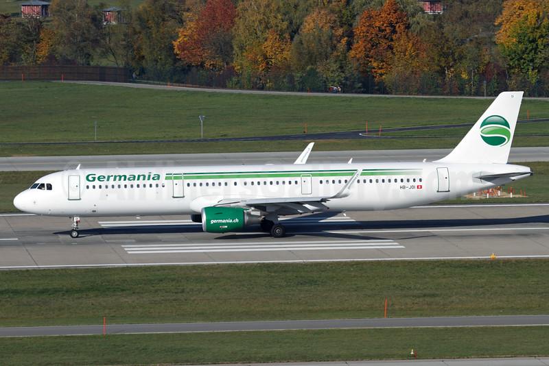 Germania (Switzerland) (Germania.ch) Airbus A321-211 WL HB-JOI (msn 5843) ZRH (Andi Hiltl). Image: 929851.