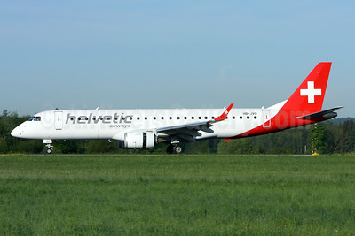 Helvetic Airways Embaer ERJ 190-100LR HB-JVO (msn 19000294) ZRH (Andi Hiltl). Image: 927771.
