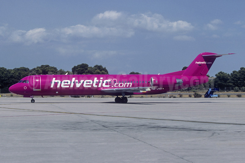 Helvetic Airways (Helvetic.com) Fokker F.28 Mk. 0100 HB-JVD (msn 11498) PMI (Christian Volpati). Image: 946967.
