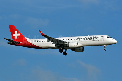 Helvetic Airways Embaer ERJ 190-100LR HB-JVM (msn 19000349) HAM (Gerd Beilfuss). Image: 926336.