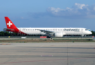 Helvetic Airways Embaer ERJ 195-E2 (ERJ 190-400 STD) HB-AZJ (msn 19020057) PMI (Javier Rodriguez). Image: 955011.