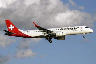 Helvetic Airways Embaer ERJ 190-100LR HB-JVP (msn 19000387) PMI (Javier Rodriguez). Image: 927772.