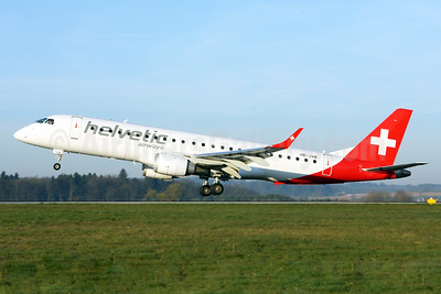 Helvetic Airways Embaer ERJ 190-100LR HB-JVM (msn 19000349) ZRH (Andi Hiltl). Image:  927188.