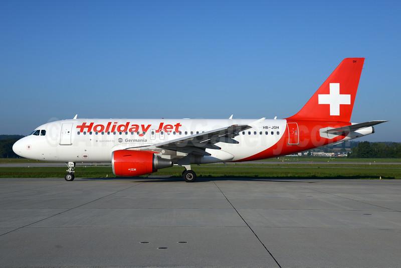 Holiday Jet (Germania) Airbus A319-111 HB-JOH (msn 3589) ZRH (Rolf Wallner). Image: 929001.
