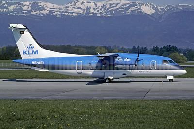 KLM Alps - Air Engiadina Dornier 328-110 HB-AEI (msn 3041) GVA (Christian Volpati Collection). Image: 950723.