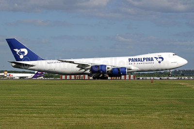 Panalpina (Atlas Air) Boeing 747-87UF N850GT (msn 37570) (Panalpina on 6 Continents) STN (Antony J. Best). Image: 942885.