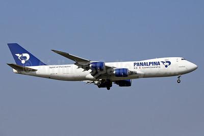 Panalpina (Atlas Air) Boeing 747-87UF N850GT (msn 37570) (Panalpina on 6 Continents) STN (Keith Burton). Image: 934912.
