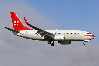 PrivatAir Boeing 737-7AK WL (BBJ) HB-JJA (msn 34303) AMS (Keith Burton). Image: 905543.