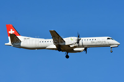 SkyWork Airlines SAAB 2000 HB-IZT (msn 036) BSL (Paul Bannwarth). Image: 943336.