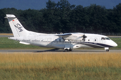 SkyWork Airlines Dornier 328-110 HB-AES (msn 3021) GVA (Christian Volpati Collection). Image: 936719.