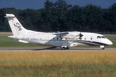 SkyWork Airlines Dornier 328-110 HB-AES (msn 3021) GVA (Christian Volpati Collection). Image: 936719.