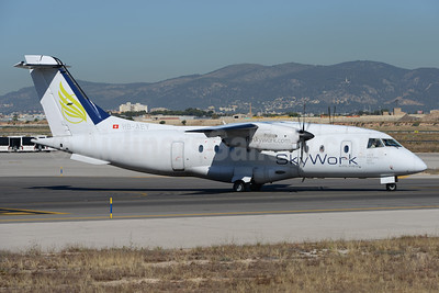 SkyWork Airlines Dornier 328-110 HB-AEY (msn 3100) PMI (Ton Jochems). Image: 936721.