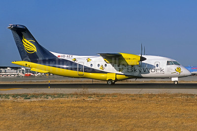 SkyWork Airlines Dornier 328-110 HB-AEV (msn 3056) PMI (Jacques Guillem Collection). Image: 936720.
