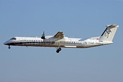 SkyWork Airlines Bombardier DHC-8-402 (Q400) HB-JGA (msn 4198) ARN (Stefan Sjogren). Image: 903446.