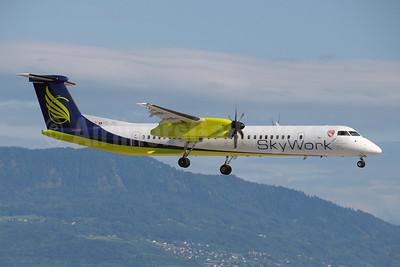 SkyWork Airlines Bombardier DHC-8-402 (Q400) HB-JIK (msn 4265) GVA (Paul Denton). Image: 907279.