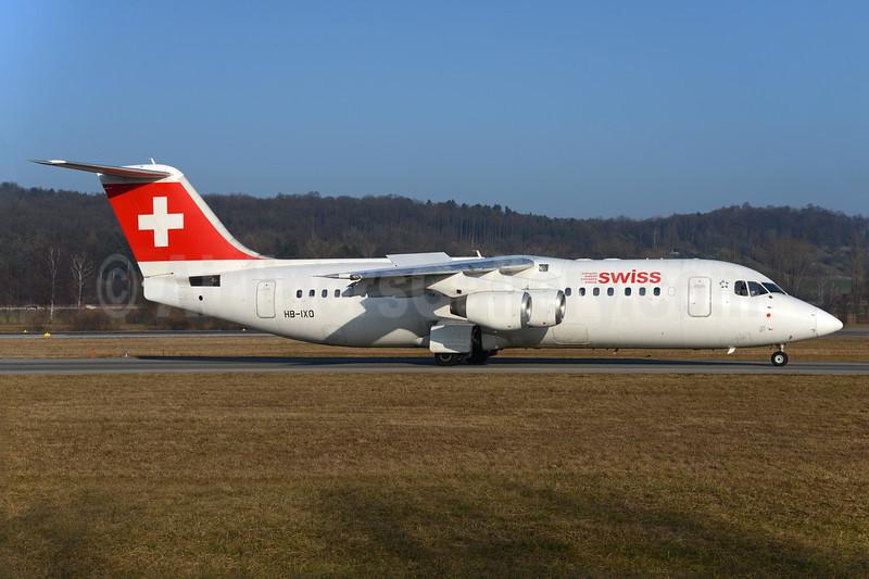 Swiss Global Air Lines BAe RJ100 HB-IXO (msn E3284) ZRH (Rolf Wallner). Image: 937004.