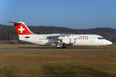 Swiss Global Air Lines BAe RJ100 HB-IXO (msn E3284) ZRH (Rolf Wallner). Image: 937004.