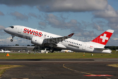 Swiss International Air Lines Bombardier CS100 (BD-500-1A10) C-GWXZ (msn 50005) FAB (SPA). Image: 933748.
