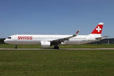 Swiss International Air Lines Airbus A321-271NX WL HB-JPB (msn 10115) ZRH (Andi Hiltl). Image: 954465.