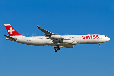 Swiss International Air Lines Airbus A340-313 HB-JMC (msn 546) GRU (Rodrigo Cozzato). Image: 935307.