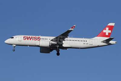 Swiss International Air Lines Airbus A220-300 (Bombardier CS300 - BD-500-1A11) HB-JCB (msn 55011) LHR (SPA). Image: 945625.