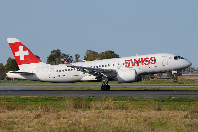 Swiss International Air Lines Bombardier CS100 (BD-500-1A10) HB-JBE (msn 50014) FCO (Marco Finelli). Image: 937178.