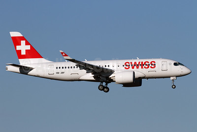 Swiss International Air Lines Bombardier CS100 (BD-500-1A10) HB-JBF  (msn 50015) ZRH (Andi Hiltl). Image: 937258.