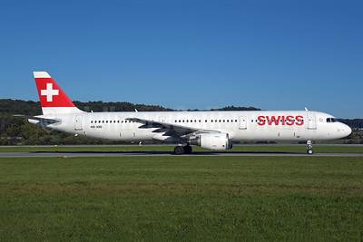 Swiss International Air Lines Airbus A321-111 HB-IOD (msn 522) ZRH (Rolf Wallner). Image: 955574.