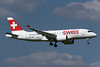 Swiss' first Bombardier CS100, delivered on June 29, 2016, arrives at Zurich base on July 1, 2016