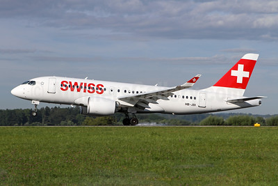 Swiss International Air Lines Airbus A220-100 (Bombardier CS100 - BD-500-1A10) HB-JBI  (msn 50018) ZRH (Andi Hiltl). Image: 947282.