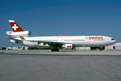 Swiss International Air Lines McDonnell Douglas MD-11 HB-IWC (msn 48445) MIA (Bruce Drum). Image: 105132.