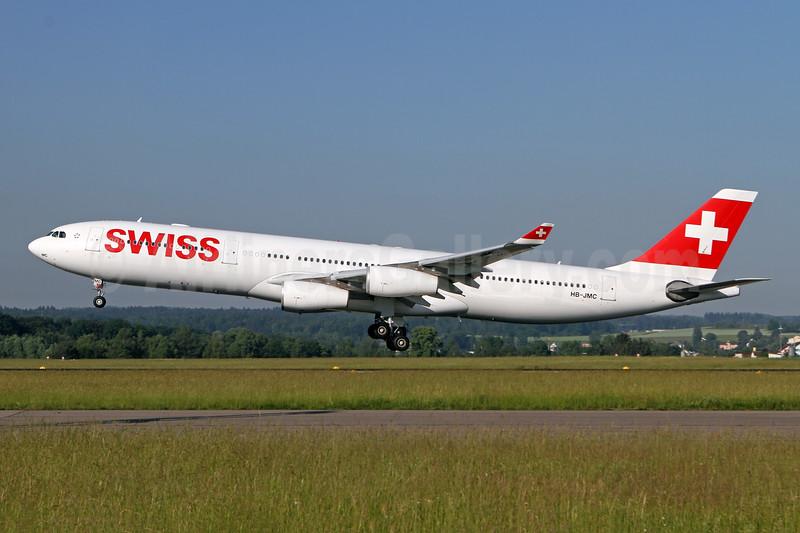 Swiss International Air Lines Airbus A340-313 HB-JMC (msn 546) ZRH (Andi Hiltl). Image: 943139.