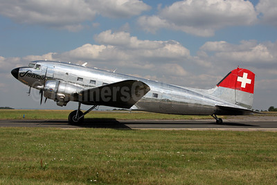 Swissair (Verein DC-3) Douglas C-47A-DL (DC-3) N431HM (msn 9995) BQH (Terry Wade). Image: 946706.
