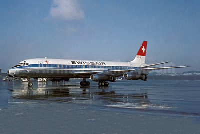 Swissair McDonnell Douglas DC-8-32 HB-IDC (msn 45526) (Sudflug colors) ZRH (Jacques Guillem Collection). Image: 941541.
