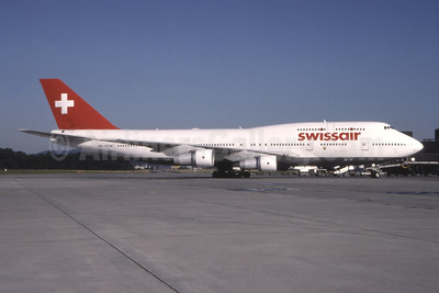 Swissair Boeing 747-357 HB-IGE (msn 22995) ZRH (Marcel Walther - Bruce Drum Collection). Image: 944373.