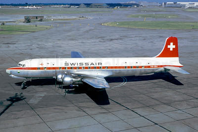Swissair Douglas DC-6B HB-IBU (msn 44088) LHR (Jacques Guillem Collection). Image: 936792.