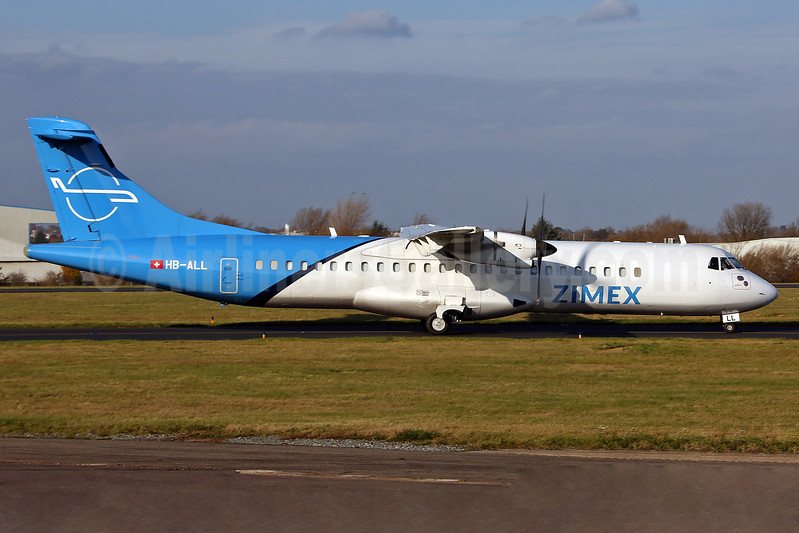 Zimex Aviation ATR 72-202 (F) HB-ALL (msn 411) SEN (Keith Burton). Image: 940027.