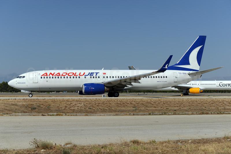 AnadoluJet (Turkish Airlines) Boeing 737-8AS WL TC-SAI (msn 33818) AYT (Ton Jochems). Image: 929442,