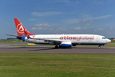 AtlasGlobal Airlines (Turkey) (SunExpress Airlines) Boeing 737-8HC SSWL TC-SNT (msn 40755) AMS (Ton Jochems). Image: 941208.